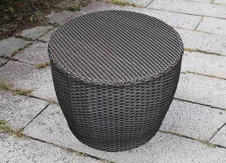 ラタンラウンドサイドテーブル60/ラウンドソファ