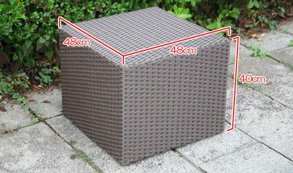 ラタンサイドテーブルキューブサイズ表