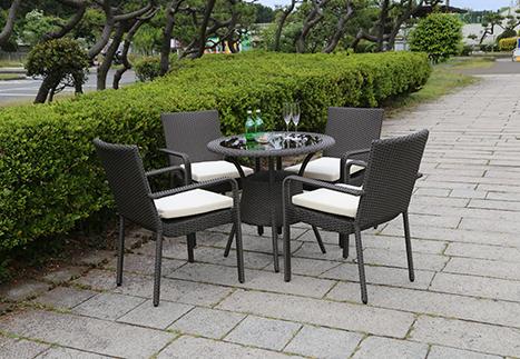 テーブル80/ガーデンアームチェア