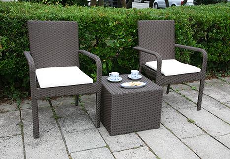 ガーデンアームチェア/サイドテーブルキューブ