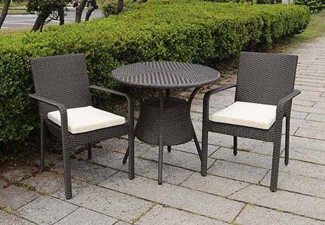 ガーデンアームチェア/80テーブル