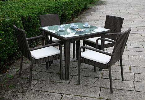 ガーデンアームチェア/スクエアテーブル90