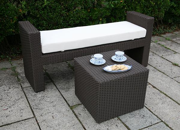 ガーデンベンチ/サイドテーブルキューブ