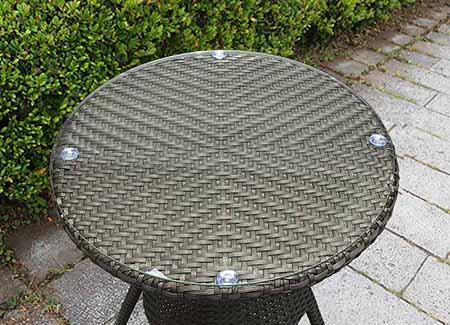 ラタンテーブル60