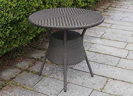 人工ラタン 屋外用ガーデンテーブル