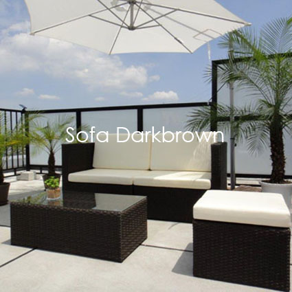 Sofa Darkbrown