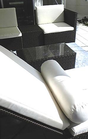 掛けソファ・ローテーブル・サイドテーブルキューブ・ラウンジャー
